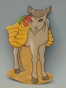Deckenhänger, Esel