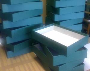 Überzogene Schachtel, blau